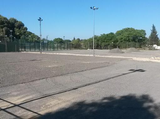 CONTRUCCION INSTALACIONES DEPORTIVAS EN CLUB RIO GRANDE. MAIRENA DEL ALJARAFE (SEVILLA)